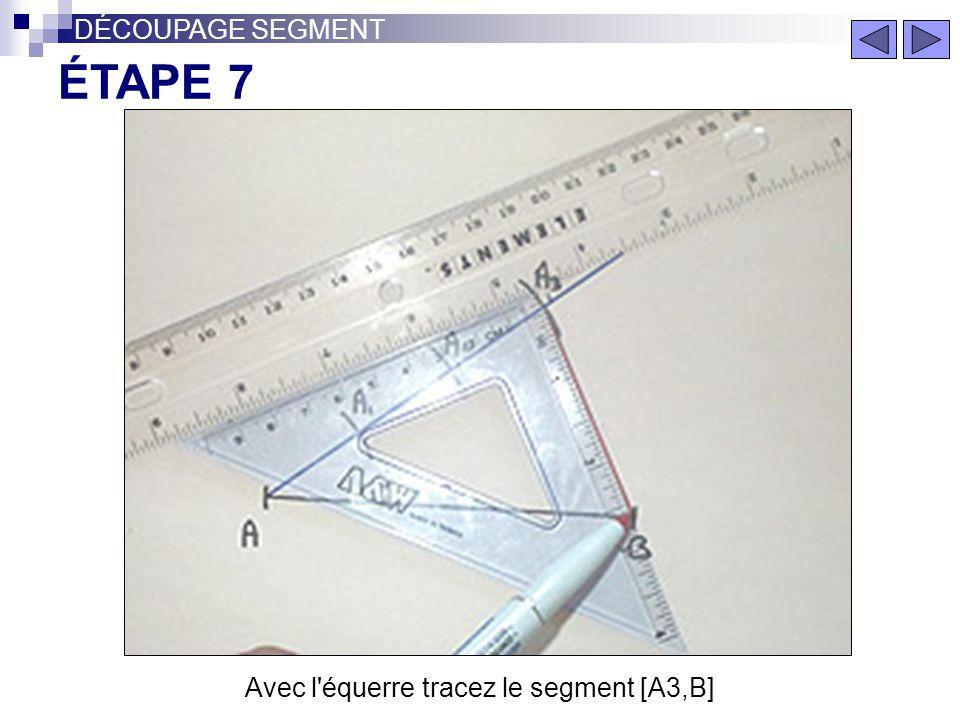 Avec l équerre tracez le segment [A3,B]